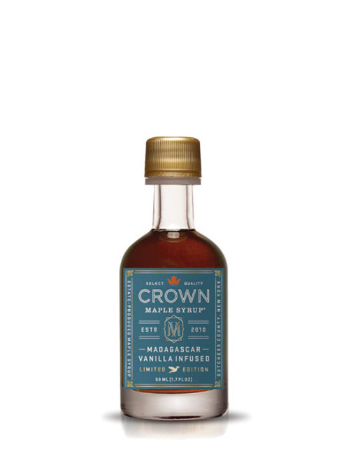 Crown Maple® Madagascar Vanilla Infused Organic Maple Syrup Single Petite 50ML (1.7 FL OZ)