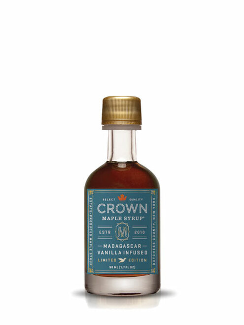 Crown Maple® Madagascar Vanilla Infused Organic Maple Syrup Single Petite 50ML (1.7 FL OZ) **Maple Sugaring Season Promo Save 15%**