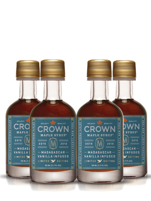 Crown Maple® Madagascar Vanilla Infused Organic Maple Syrup 12-Pack Petite 50ML (1.7 FL OZ) SAVE 10%