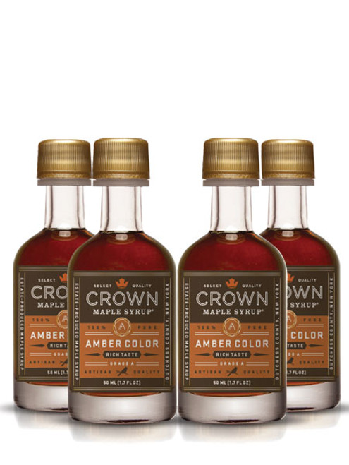Crown Maple® Amber Color Rich Taste Organic Maple Syrup 12-Pack Petite 50ML (1.7 FL OZ) SAVE 10%