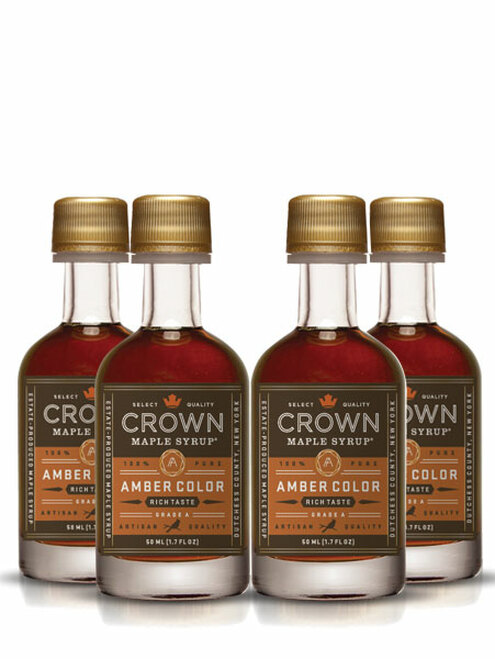 Crown Maple® Amber Color Rich Taste Organic Maple Syrup 12-Pack Petite 50ML (1.7 FL OZ)