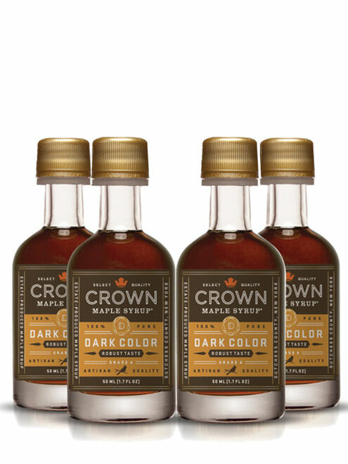 Crown Maple® Dark Color Robust Taste Organic Maple Syrup 12-Pack Petite 50ML (1.7 FL OZ)