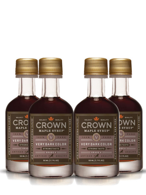 Crown Maple® Very Dark Color Strong Taste Organic Maple Syrup 12-Pack Petite 50ML (1.7 FL OZ) SAVE 10%