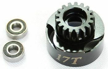 17T Clutch Bell with 2pcs 5x11 bearings