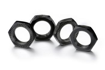 Hex locknut 17mm black (4)