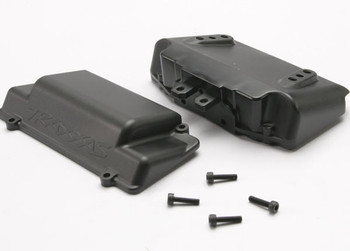 Battery Box, bumper (rear) (includes battery case with bosses for wheelie bar, cover, and foam pad)