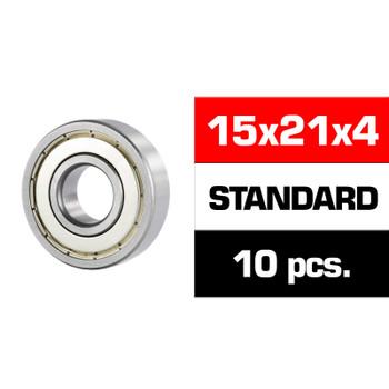 "Ultimate 15X21X4MM ""HS"" Metal Shielded Bearing Set (10PCS)"