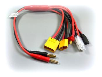Absima Charging Cable Multi 5in1, 30cm XT90, XT60 T-Plug, JR, Tamiya