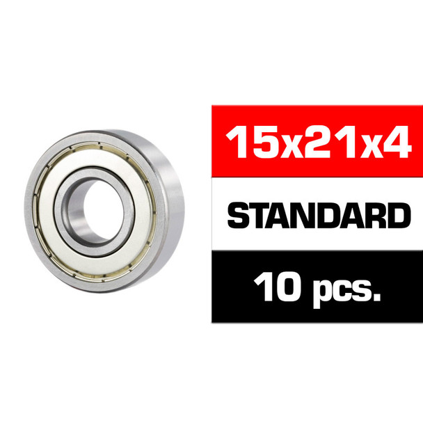 "Ultimate 15X21X4MM ""HS"" Metal Shielded Bearing Set (10PCS)"