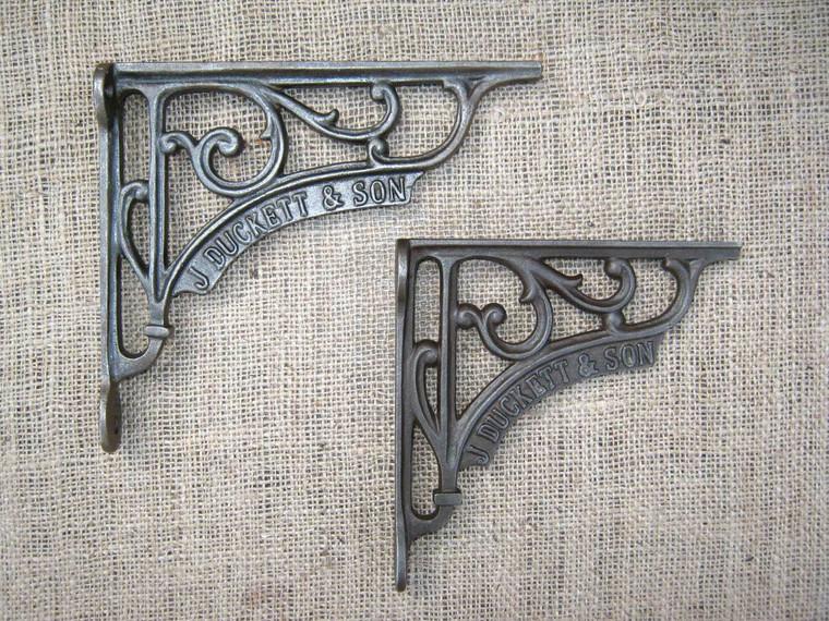 J Duckett & Son Cast Iron Vintage Shelf Bracket