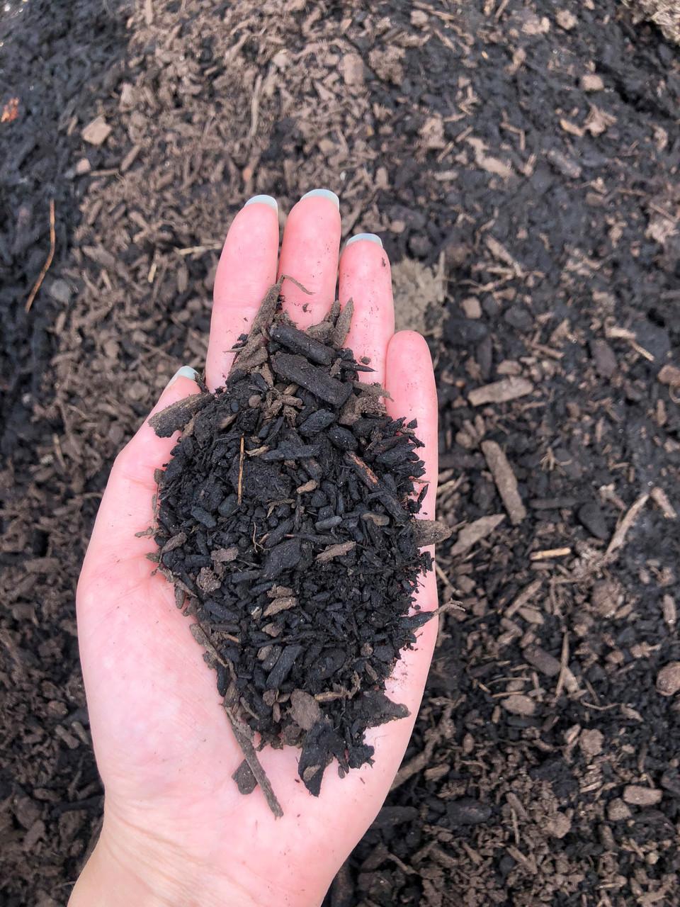 "Bark Mulch compost, 3/8"" minus mulch"