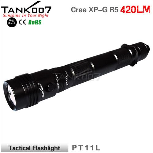 TANK007 PT11L tactical led flashlight Cree R5 420 lumens led torch torches