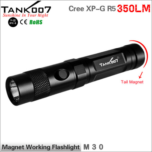 TANK007 M30 2*CR123 or 2*16340(li-ion) or 1*18650(li-ion) battery Cree XP-G R5 LED flashlight