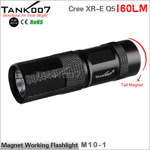 TANK007 M10 Cree Q5 flashlight with magnet one mode led flash light led torch torches