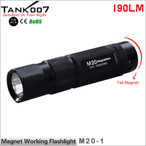 TANK007 M20 Cree Q5 Magnetic Working Flashlight one working mode led torch torches