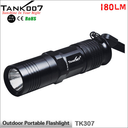 TANK007 TK307 180LM USA Cree R5 led flashlight 5W 5-mode led torch torches EDC flashlight flashlights