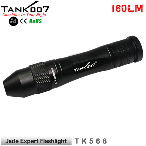TANK007 flashlight TK568 Jade jeweler appraisal Expert Flashlight 160LM Cree led Warm Yellow Light torch with Aluminum Head