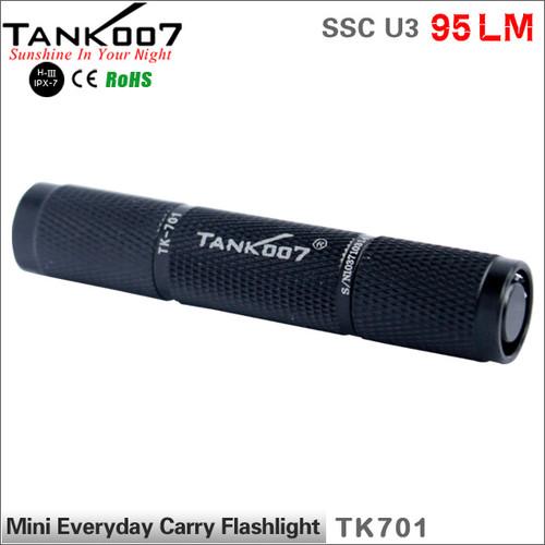 TANK007 TK701 pocket size LED flashlight SSC U3 mini led torch torches U3 95LM mini flash light