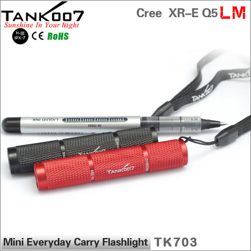 8cm only led flashlight mini everyday carry / EDC flashlight torch TANK007 TK703