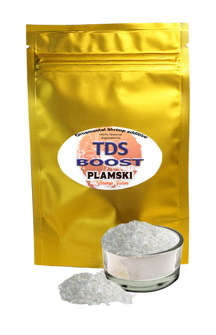 TDS Boost is designed to increase the TDS (Total Dissolved Solids) in shrimp tanks.