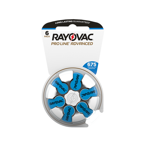 Rayovac ProLine Advanced Mercury-Free Hearing Aid Batteries 60 per box Size 675