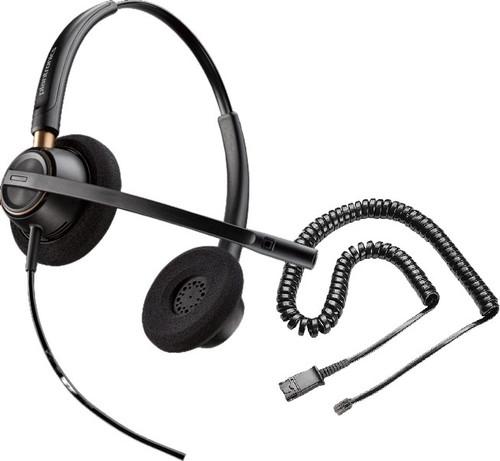 Plantronics HW520 EncorePro Noise-Canceling Binaural Headset with RJ9 Adapter