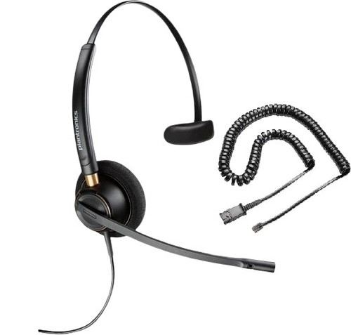 Plantronics HW510 EncorePro Noise Canceling Headset with RJ9 Adapter