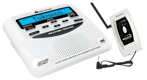 Midland Weather Alert Radio with Silent Call Medallion Series Transmitter