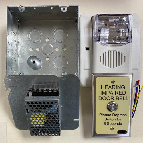 Hard-Wired 24VDC Audio/Visual Doorbell System Kit
