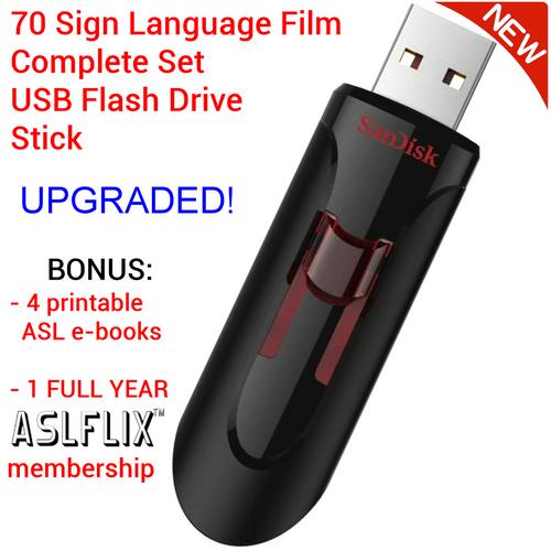 ASL 70-Film Training Set on USB Drive