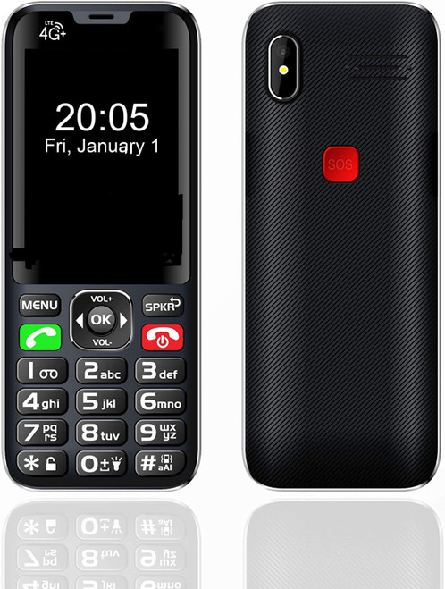 Loud Big Button Unlocked 4G Senior Cell Phone w/SOS Call Button