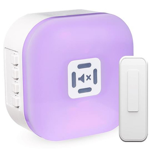 Wireless 7-Color LED Illuminated Plug-In Flashing Door Chime / Pager