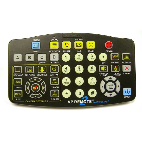 Large Button Videophone VP Remote Control