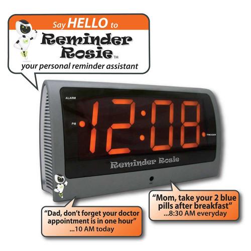 Rosie Voice Controlled Loud Reminder Alarm Clock