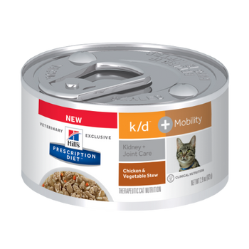 Hills Kidney Care k/d + Mobility Canned Cat Food (24/2.9 oz cans)