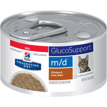 Hills Glucose/Weight Management m/d Chicken & Liver Stew Canned Cat Food (24/2.9oz Cans)
