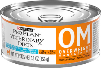 Purina OM Overweight Management Savory Select Feline with Oceanfish and Chicken (24/5.5oz Cans)