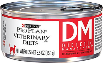 Purina Pro Plan Veterinary Diets DM Dietetic Management Wet Cat Food (24/5.5 oz Cans)