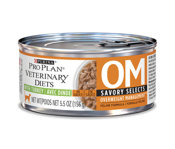 Purina OM Overweight Management Cat Food, Turkey (24/5.5 oz Cans)
