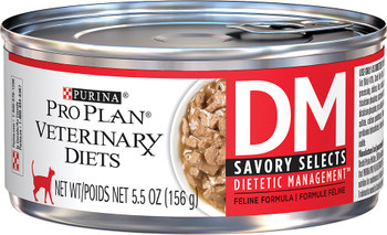 Purina Pro Plan Veterinary Diets Feline DM Dietetic Management Savory Selects (24/5.5oz Cans)