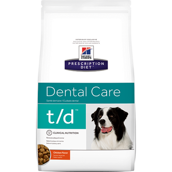 Hill's Prescription Diet Dental Care t/d Chicken Flavor Dry Dog Food (25 lb)