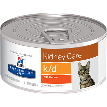 Kidney Care k/d with Chicken Wet Cat Food (24/5.5 oz Cans)