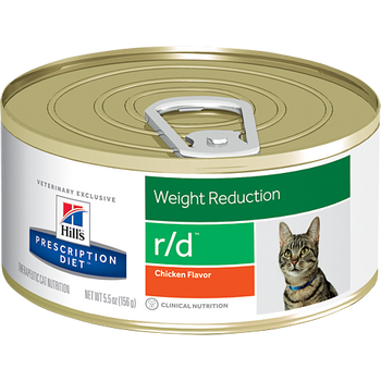 Weight Reduction r/d Chicken Flavor Wet Cat Food (24/5.5 oz Cans)