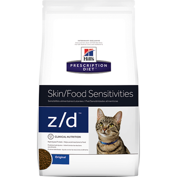 Hills Prescription Diet Skin/Food Sensitivities z/d Dry Cat Food (4 lb)