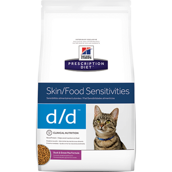Skin/Food Sensitivity d/d Duck & Green Pea Dry Cat Food (8.5 lb)