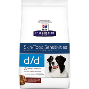 Skin/Food Sensitivity d/d Potato & Venison Formula Dry Dog Food (8 lb)