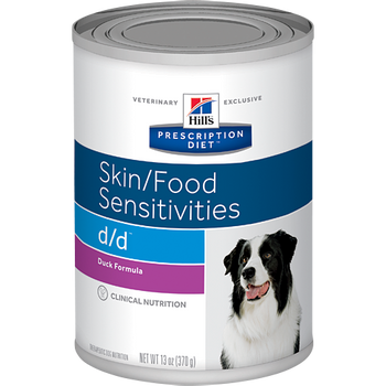 Skin/Food Sensitivity d/d Duck Formula Wet Dog Food (12/13 oz Cans)