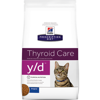 Thyroid Care y/d Dry Cat Food (4 lb)