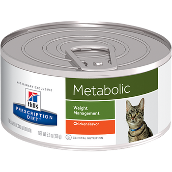 Hills Metabolic Chicken Canned Cat Food (24/5.5 oz Cans)