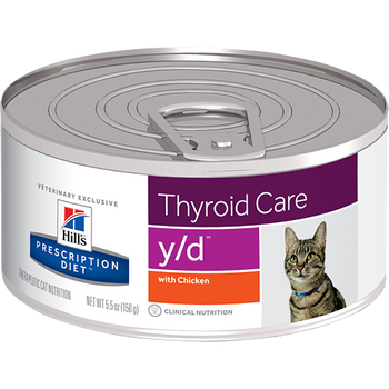 Hills Thyroid Care y/d Canned Cat Food (24/5.5 oz Cans)